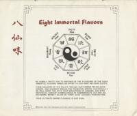 Eight Immortal Flavors Dinner Menu