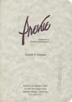 Prevue Nouvelle & French Continental Luncheon and Dinner Menu