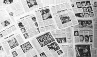 Photograph of several issues of Tech Topics, the Utah Technical College Newspaper