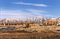 Lifetime Activities Center under initial construction, January 18, 1994