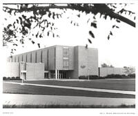 West entrance of the Nelson Administration Building, mid-1970s