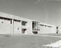 East exterior of the Automotive Trades Building, circa late 1967