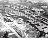 Aerial photograph of Redwood Campus, early 1972