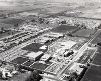 Aerial photograph of Redwood Campus, late 1971