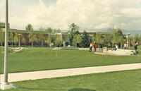 Applied Technology Center and college quad, circa April 1986