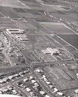 Aerial photograph of Redwood Campus, 1969