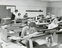 Drafting & Design Students in Classroom