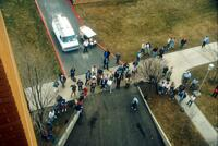 Egg Drop Competition, Roof of the Technology Building