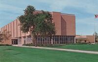 East side of the Nelson Administration Building, circa late 1970s, Postcard