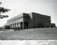 Black and White Photograph of the Business Building