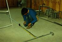 Construction Trades Students Working on a Building