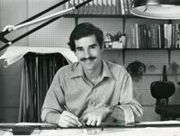 An Instructor in the Drafting Program at his Desk