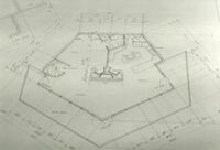 Blue Print of a Small Building