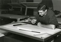 Student Drafting on a Table
