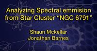 """2019 - Analyzing Spectral emission from Star Cluster """"NGC 6791"""" - Oral Presentation"""