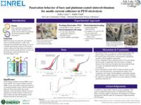 2018 - Passivation behavior of bare and platinum-coated sintered-titanium for anodic current collectors in PEM electrolysis - Poster Presentation